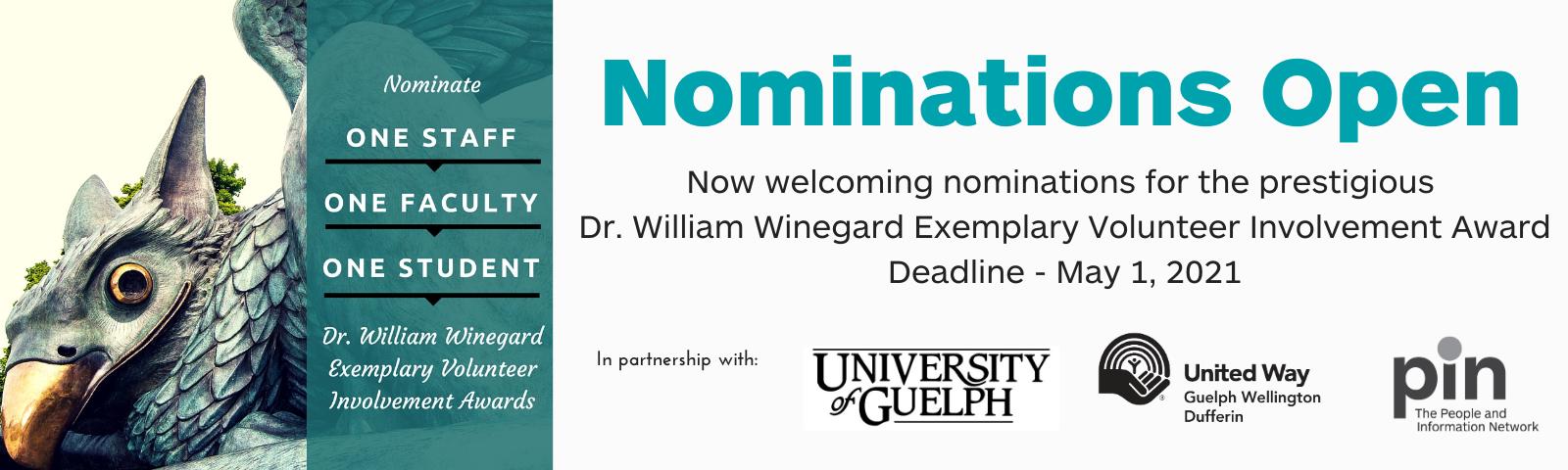 Dr. Winegard Exemplary Volunteer Awards