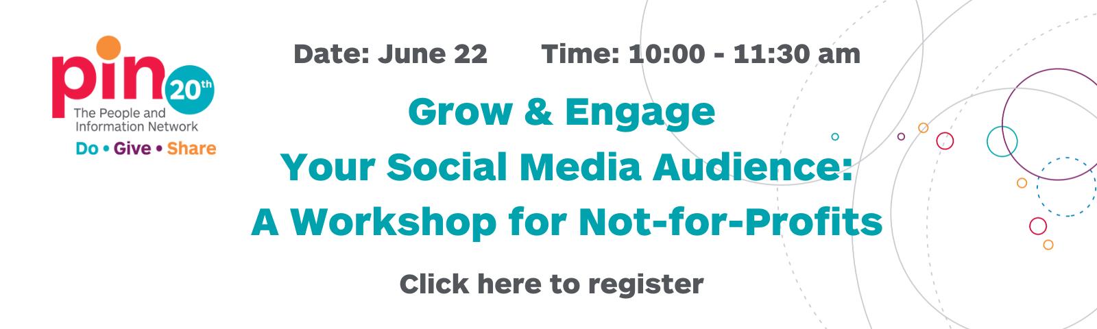 social media workshop for nonprofits